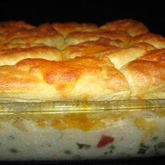 Creamed Chicken and Biscuits Casserole Recipe | Key Ingredient