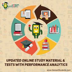 Get comprehensive and updated online #material for each chapter and subject for all classes from 1 to 12. Refer well explained notes before starting the tests. Get detailed performance reports to help you with your strong and week areas. Register at www.genextstudents.com now!!