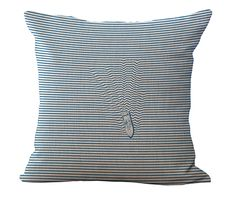 """Cotone lino 18 """"blue sea serie pesce stampato casa  Tiro decorativo cuscino balena auto sedile morbido cuscino vita senza  Riempimento"""