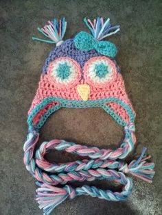 Crochet Owl Hat by ChickadeeFrills on Etsy, $20.00