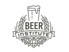 Beer Institute. Graphic hops, barley & banner use