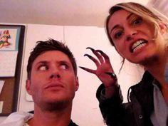 BTS w/Jensen - FB page of Leslie Hopps Deschutter (Amy's mother in The Girl Next Door)