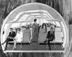Boeing 2707 SST proposal c. 1968 cabin cross section