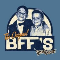 #thelittlerascals #popfunk #bff   This design is available as a Tshirt here: $21.00 http://www.popfunk.com/mens-tees/cbs-television-city/the-little-rascals/little-rascals-original-bffs.html