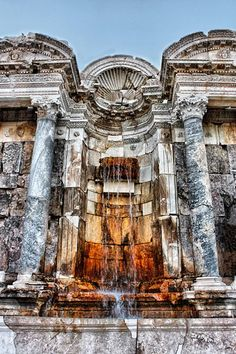 Fountain Found in Sagalassos Ancient City - Where To - Fountain Found in Sagalassos Ancient City – Where To - Ancient City, Ancient Rome, Best Places To Travel, Cool Places To Visit, Ancient Architecture, Art And Architecture, Turkey Photos, Turkey Travel, Archaeological Site