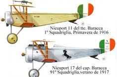 Nieuport 11 et 17 Francesco Baracca