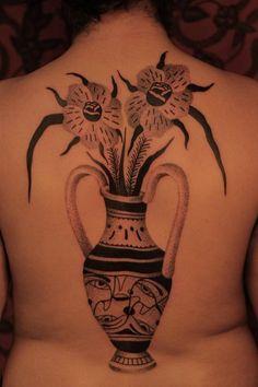 Vase with flowers tattoo by Jayaism - Get inspired with the Tattoodo App! - #flowertattoo #floraltattoo #vasetattoo #patternworktattoo #patterntattoo #tattooinspo #tattooart #tattoo #tattooinspiration #uniquetattoo #besttattoo #tattoostyle #tatuajes #tattooideasfemale #femaletattooideas #prettytattoos #backtattoo
