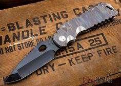 Medford Knife & Tool: Arkita - Flame Finish Titanium - Black PVD - 0629201