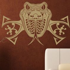 "Style and Apply Snake Wall Decal Size: 21"" H x 31"" W, Color: Yellow"