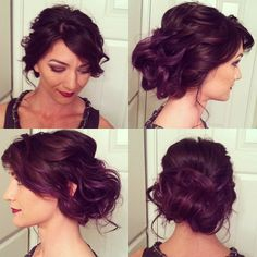 messy updo-bridesmaids hair - I want to get my hair done like this for the wedding I'm going to be in.
