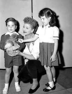 Lucy with her children