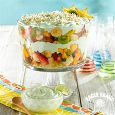 ♥ Tropical Fruit Trifle From Eagle Brand®