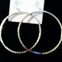 ROUND HOOP RHODE EARRINGS SILVER Casual silver earrings LARGE ROUND hoops BCBGeneration Jewelry Earrings