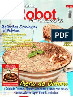 Revista TeleCulinária Bimby Outubro 2010 Oatmeal, Breakfast, Food, Baked Cod, Spare Ribs, October, Vegetable Garden, The Oatmeal, Morning Coffee