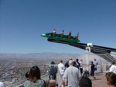 The Stratosphere Las Vegas Hotel is known for its thrilling amusement-park atmosphere.