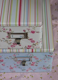 Greengate tin boxes Grace by Love taking photos, via Flickr