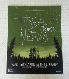 Tides From Nebula screen print gig poster by Or8 Design