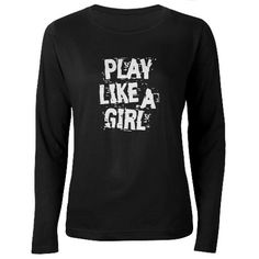 Play Like A Girl distressed font with attitude.