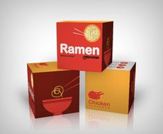 25 Ramen Packaging Designs - Instant Noodles Are Looking Good Ramen Noodle Soup, Ramen Bowl, Ramen Noodles, Food Packaging Design, Branding Design, Logo Design, Flavor Flav, Instant Ramen, Bowl Designs