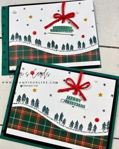 Stampin Up Christmas, Christmas Cards To Make, Merry Christmas, Xmas Cards, Handmade Christmas, Christmas Decorations, Christmas Settings, Anniversary Quotes, Club Design
