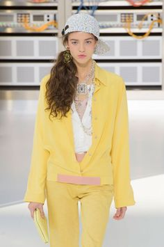 Chanel's side ponytails were straight out of the 90s.