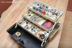 Lego storage-repurposed tackle box