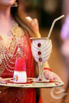 Glass decor Desi Wedding Decor, Country Wedding Decorations, Wedding Mehndi, Wedding Ceremony Decorations, Wedding Crafts, Marriage Decoration, Wedding Set, Mehndi Decor, Mehendi