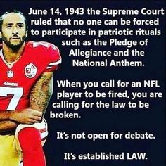 We are not kneeling down against America, we are kneeling down against injustice! Pledge Of Allegiance, National Anthem, Thats The Way, Supreme Court, Social Issues, Social Justice, In This World, Equality, Revolution
