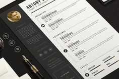 Resume Templates Pro Resume by sz81 on @creativemarket Professional printable resume / cv cover letter template examples creative design and great covers, perfect in modern and stylish corporate business design. Modern, simple, clean, minimal and feminine style. Ready to print us letter and a4 layout inspiration to grab some ideas. In psd, indd, docs, ms word file format. #resume #cv #template #professional #word #modern #creative #design