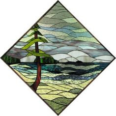 Image result for stained glass landscape patterns