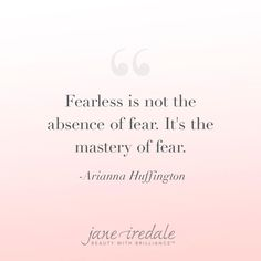How will you tackle your fears this week? Thanks for the inspiration, Arianna Huffington! Great Quotes, Quotes To Live By, Me Quotes, Motivational Quotes, Wisdom Quotes, Inspirational Quotes, Meaningful Quotes, Poetry Quotes, Wise Words