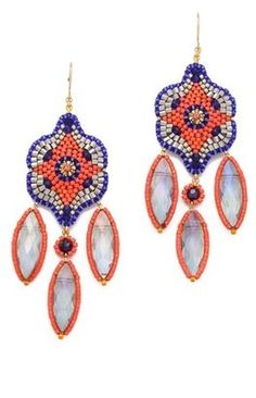 Miguel ases Rainbow Quartz Chandelier Earrings Miguel Ases