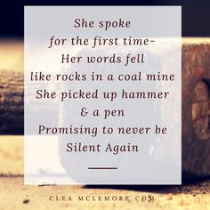 Breaking the Silence, by Clea McLemore #Quotes #Warrior