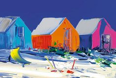 Artwork view of Shades of Life I by Duncan Macgregor. Boats, Glass Art, Art Photography, Coastal, Buildings, Original Paintings, Abstract Art, Sculptures, Skyline