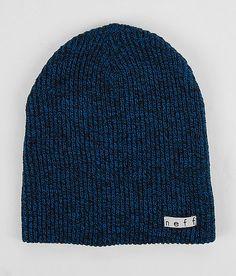 daily heather beanie•black/blue { $18.00 }