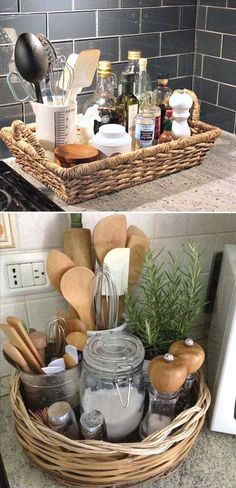 With no further a due, here are 47 kitchen organization ideas that will make you love your kitchen even more and for you to have a well-organized kitchen! For more awesome ideas, please check https://glamshelf.com #homeideas #kitchenorganization #kitchencabinets #kitchenstorage