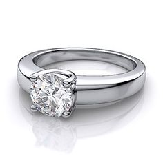 The Low Profile Rings are Beautiful and yet so simple. A great Engagement Ring in Platinum.