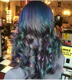 Beautiful oil-slick hair