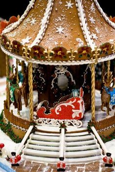 gingerbread house in