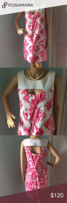 """🔶Was $100🔶 Lilly Pulitzer Jubilee Collection Lilly Pulitzer Dress size 8. Side zipper closure. Like new, mint condition.  Shell and lining is 100% cotton. Bust measures 18"""" across laying flat, 17"""" at the waist and 18"""" at the hips.  Dress is 36"""" total length.  Any questions please ask. Lilly Pulitzer Dresses Midi"""