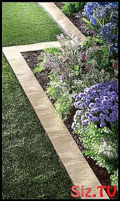 51 New ideas for backyard landscaping concrete garden edging Backyard Flowers, Backyard Flowers Beds, Concrete Garden, Backyard Landscaping, Glass Garden, Landscape Ideas Front Yard Curb Appeal, Modern Garden, Beautiful Gardens, Landscape Edging