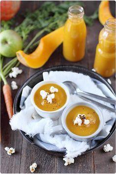 Velouté de butternut, pomme et carotte