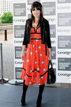 English model Daisy Lowe is the epitome of hip summer style with her print dress at the Graduate Fashion Week 2012 Gala Show at Earls Court 2 on June 2012 in London. Disney California Adventure Park, Daisy Lowe, Peek A Boos, Grand Opening, Red Carpet, Midi Skirt, Earls Court, My Style, Hot