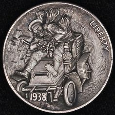 Alex Ostrogradsky - Don't Stay on my Way Hobo Nickel, Coin Art, Political Art, Funky Art, World Coins, True Art, Rare Coins, Coin Collecting, Silver Coins