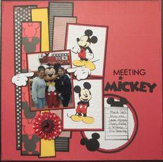Meeting Mickey - Scrapbook.com