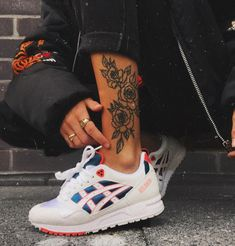 don't want to ever take my new Asics Tiger babies off. 👟 Link to purchase in . - don't want to ever take my new Asics Tiger babies off. 👟 Link to purchase in … – – - Calf Tattoos For Women, Girl Leg Tattoos, Foot Tattoos, Body Art Tattoos, New Tattoos, Tattoo Ink, Dream Tattoos, Badass Tattoos, Mini Tattoos