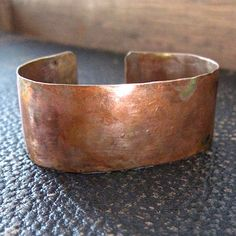 Unisex Copper Cuff Bracelet for Man or by RoughMagicCreations