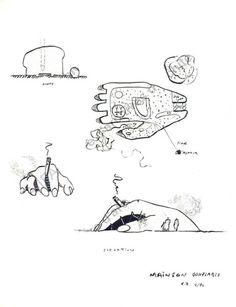 Guy Rottier, Abri gonflable main, (Projets théoriques : plan, coupe et pers). 1979.