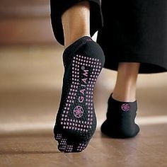 gaiam yoga socks - I'm not sure if I can handle the toes, but i like the idea...