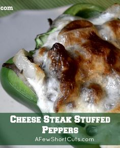 Cheese Steak Stuffed Peppers Recipe! Low carb and delish!